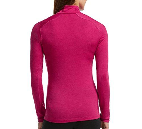 Icebreaker Damen Shirt Unterhemd Langarm Rollkragen Oasis Longsleeve Half Zip Raspberry
