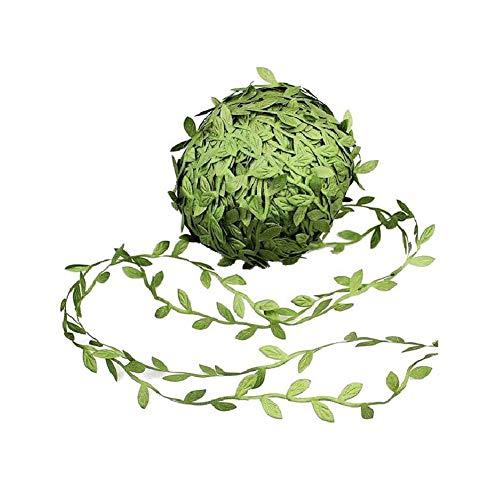 TLfyajJ Künstliche Weinrebe Eukalyptus Blätter DIY Garland Hochzeit Party Decor 252ft Grün 77m - Natürliche Reben-teppich