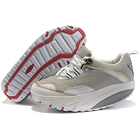 Donna Chapa White Breathable Walking Shoes Trail