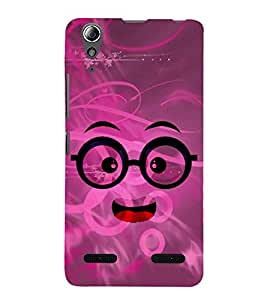 Chacha Smiley 3D Hard Polycarbonate Designer Back Case Cover for Lenovo A6000 Plus