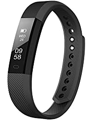 Delvfire Fitness Tracker Watch with Sleep Monitor, Activity Tracker, Step and Calorie Counter, Bluetooth Sports Pedometer Bracelet compatible with iPhone Android for Ladies, Women, Men and Kids