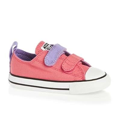 Converse 2V Infant Oxford Girls Canvas Shoes Carnival Pink 7 UK