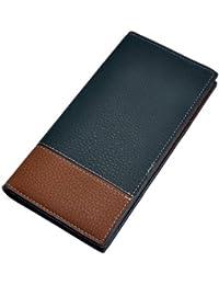 F9Q Mens Fashion Business cuir imperméable pliante long Portefeuille Portefeuille Sacs