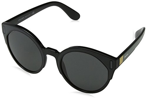 Prada Damen 0PR03US 07E5S0 53 Sonnenbrille, Schwarz (Black Yellow/Grey)