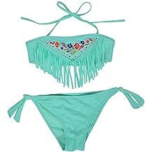b06fb9223 IPBEN Conjuntos bebé Bañador bebé Bañadores de Verano para Niñas Tassel  Conjunto de Bikini Traje de