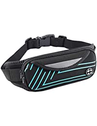 Waterproof Large Capacity Multifunction Waist Pack Bag Fitness Sports Belt Bag Cell Phone Pouch For Running Riding... - B07H3QMG5T