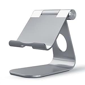 OMOTON Supporto per tablet iPad max 12 pollici - Angolazione regolabile in alluminio [Grigio Siderale]