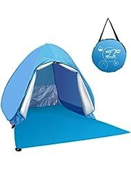 Lovebay Pop Up Tente compacte d'éjection automatique de pare-soleil extérieure de plage respirante anti-UV de 2 – 3 personnes
