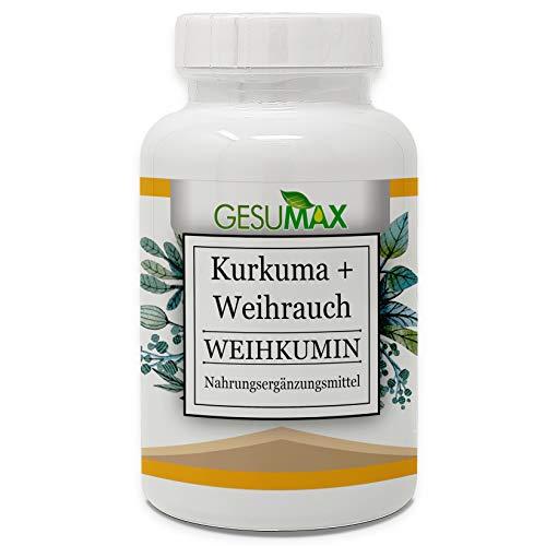 GESUMAX® WEIHKUMIN Kurkuma Extrakt + Weihrauch Extrakt HOCHDOSIERT & VEGAN Naturheilkunde: Entzündungs-, schmerzlinderne und antibiotische Heilwurzeln Ätherische Öle