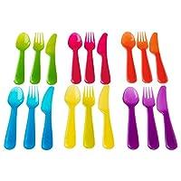 IKEA KALAS2 Kids Cutlery Set, Plastic, Assorted
