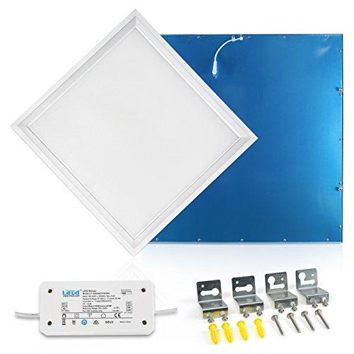 LED Panel Deckenleuchte dimmbar 62x62cm Neutralweiss 4000K Ultraslim 40W inkl. Trafo und Befestigungsmaterial für Systemdecken wie Odenwalddecke Rasterleuchten Einlegeleuchte Büroleuchten