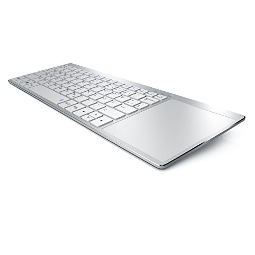 Aplic - Wireless Slim Tastatur mit Touchpad | Multimedia Keyboard im Slim Design | Multitouch-Gestensteuerung | kompatibel mit Apple (Wireless Tastatur Touchpad Mac)