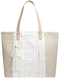 Monsoon Cabas White Isles Shelley - Femme