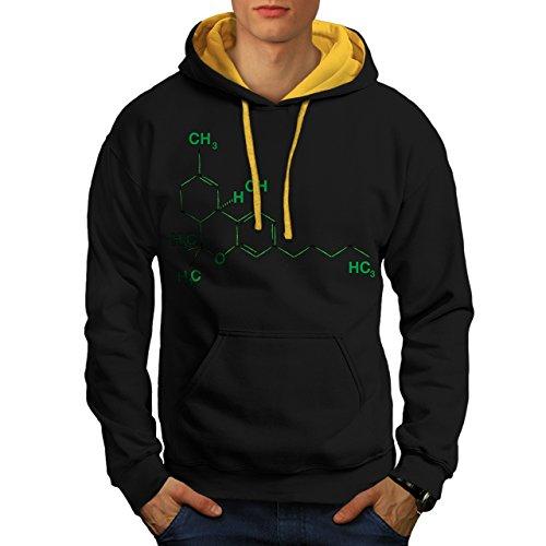 chimique-formule-alchimie-chaine-homme-nouveau-noir-avec-capuche-dore-xl-capuchon-contraste-wellcoda