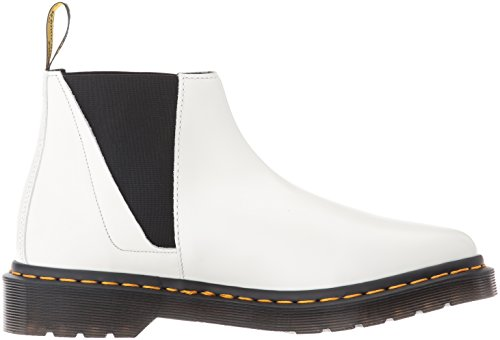 Dr.Martens Womens Bianca Smooth Chelsea Leather Boots Blanc