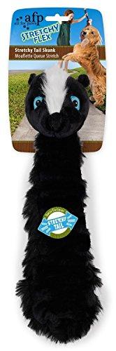 Hunde Plüschspielzeug - Stretchy Flex - Stinktier mit elastischem Schwanz (Schwanz Skunk)