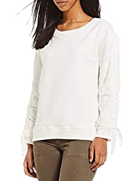 dda414f77c5ee Sanctuary Womens Camilla Cold Shoulder Textured Peasant Top Purple XL ·  £33.73 · Sanctuary Womens Camden French Terry Gathered Sweatshirt Ivory XL