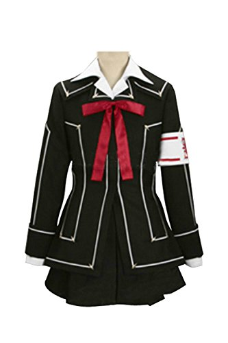 (Vampire Knight Day Class Girl Kurosu Yuuki Cosplay Costume Schwarz Damen S)