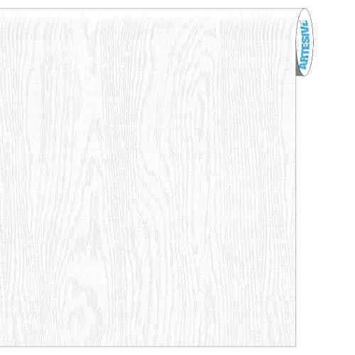 ARTESIVE WD-056 Fresno Blanco Absoluto Mate 30 cm x 2,5 MT. - Película Adhesiva