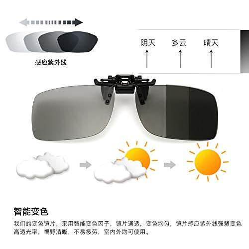 Alemin Man polarisierte Sonnenbrille zum Aufstecken, rahmenlose rechteckige Linse zum Hochklappen verschreibungspflichtiger Sonnenbrillen Brillen für Fahrer (# 1)