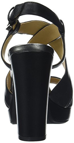 Geox D Mauvelle D, Sandales Bout Ouvert Femme Noir (Black/Gunc9B1G)