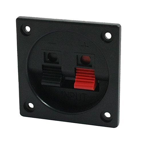 Quadratisch 2 Position 2 Terminals Feder-Clip Audio-Lautsprecher - Feder-clip-terminal