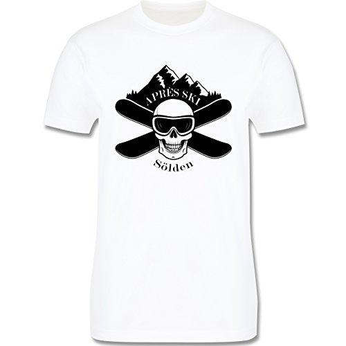 Après Ski - Apres Ski Sölden Totenkopf - Herren Premium T-Shirt Weiß