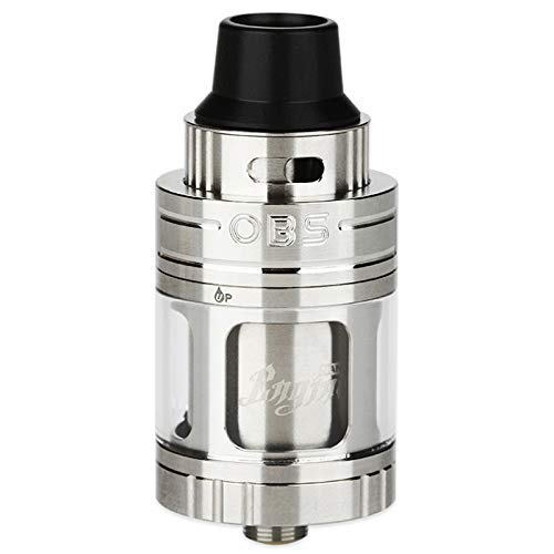 OBS - Engine Nano RTA 22 mm Zerstäuber für elektronische Zigarette aus 304 Edelstahl mit Glastank, Flüssigkeitsinhalt 5,3 ml - Elektronische Zigarette Sigelei