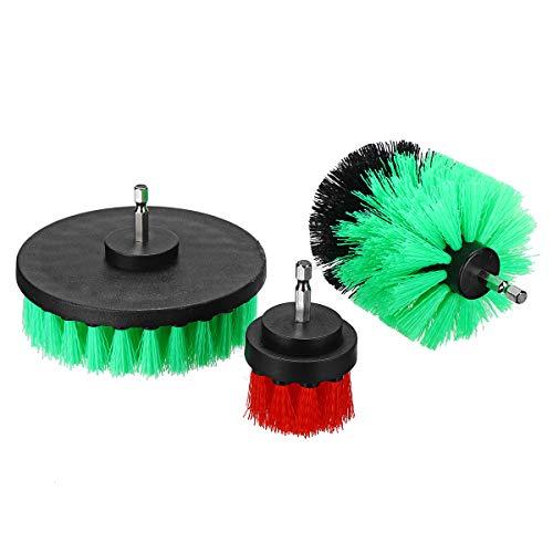 KingLan 3Pcs 2/3.5/4 Inch Elektrische Bohrbürste Scrubber Für Fliesen Grout Power Scrubber Wanne Reinigung