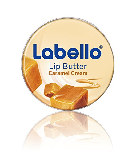 Labello Lip Butter Caramel Cream Lippenbalsam, zart schmelzende Lippenbutter mit Karamell-Aroma zur intensiven Lippenpflege, Mit Sheabutter und Mandelöl, 4er Pack (4 x 16,7 g) - Lip Butter