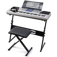 RockJam RJ-661 - Super kit de 61 teclas del teclado LCD con soporte y