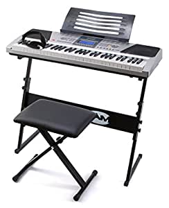 RockJam RJ661 Piano Digitale 61 Tasti Superkit con Supporto, Sgabello e Cuffie