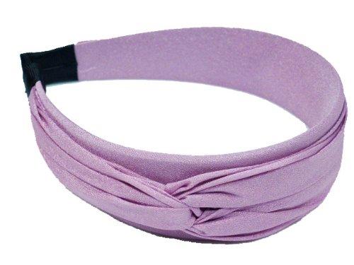 rougecaramel - Serre tête/headband/bandeau large uni - mauve