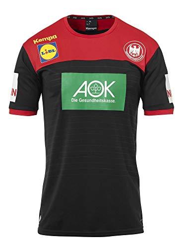 Kempa Handball Herren DHB Trikot Away 2018 2019 Deutscher Handballbund Auswärtsshirt schwarz rot Gr XXL