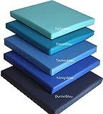 d & L medicaltechnolgies Stuhlkissen, Bankkissen, Sitzkissen, Sitzpolster, Stuhlpolster Dekokissen 40 x 40 cm Kunstleder (dunkelblau)