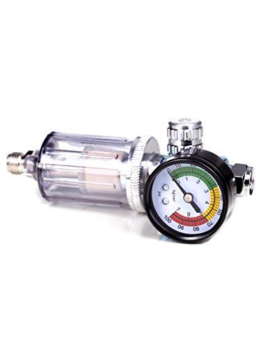 SET! Druckregler Manometer für Lackierpistolen + Öl - Wasserfilter Benbow (Benbow-602))