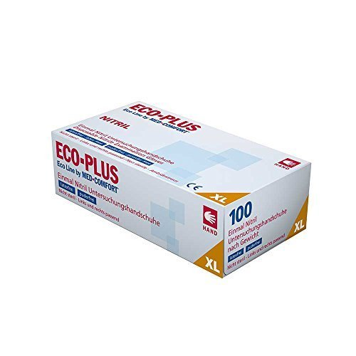 100 Einmal Nitril Untersuchungshandschuh Eco Plus von Ampri Gr. XL