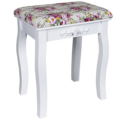 songmics-white-dressing-table-stool-with-rose-cushion-padded-for-piano-chair-rds50h