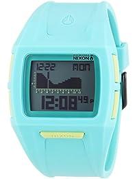 Nixon Small Lodown II Light Blue - Reloj de cuarzo para mujer, correa de plástico color azul