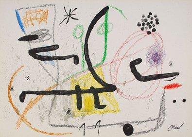 Joan Miro grafica litografia Mara Villas 9-drucksigniert limitata