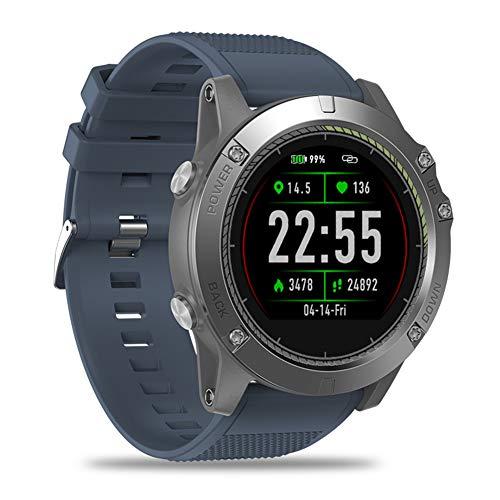 JINRU Smart Watch Herzfrequenzüberwachung 5ATM Wasserdichten Herzfrequenz-Monitor-Sport-Pedometer Schlaf-Überwachung,Blue - Gps-herzfrequenz-monitor Garmin