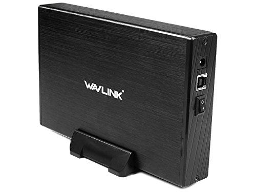 """WAVLINK USB 3.0 Cárcasa para Discos Duros HDD de 3.5"""",Soporta SATA I/II/III, Aluminio con Indicador LED,Interruptor y Soporta 10TB(Negro)"""