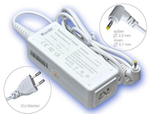 40W Alimentador Cargador Notebook AC Power compatible con Asus Eee-PC 1001PX 1001PX-Seashell 1001PXD 1005 1005H 1005HA 1005HA-A 1005HA-BLK140X 1005HA-E 1005HA-EU1X, con