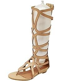 Sandali casual neri con cerniera per donna Lvrao aZDC0GS0WP