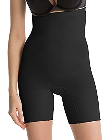 Luxurious Spanx Slimming Shapewear Lightweight and Seamless Higher Power Short, Very Black, Small