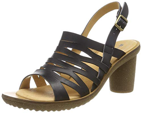 El Naturalista N5156 VAQUETILLA Trivia, Zapatos de tacón con Punta Abierta para Mujer, Negro Black...
