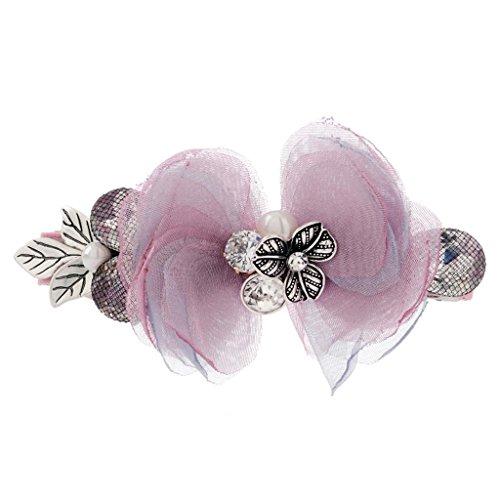 DELLT- Coréen Populaire Petite Epingle Bow Bow Bow Gros Spring Clip Chuck Top Bijoux Rose