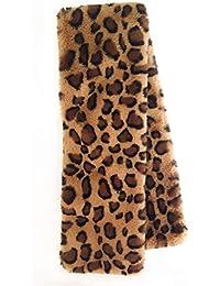 Bufanda de Mujer. Otoño Invierno. Leopardo. Impresión animal. Cuello de pelo. Bufanda para salir. Foulard elegante. Estola de piel.