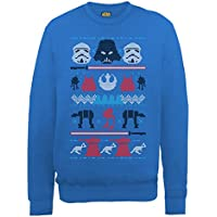 Ufficiale Star Wars Natale Darth Knit, Felpa da
