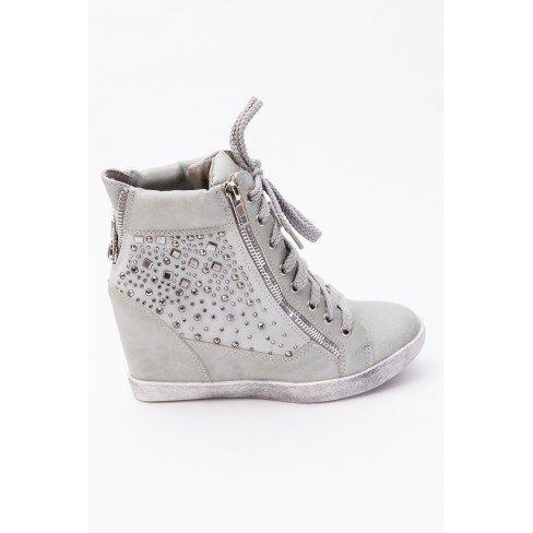 Princesse boutique - Baskets Femme Gris Gris